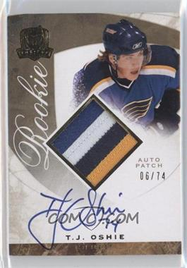 2008-09 Upper Deck The Cup Gold Rainbow Rookie Autographs #138 - T.J. Oshie /74