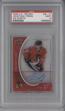 2008-09 Upper Deck Trilogy Ice Scripts #IS-JT - Jonathan Toews [PSA 9]