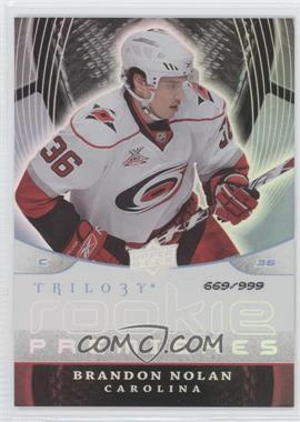 2008-09 Upper Deck Trilogy #153 - Brandon Nolan /999