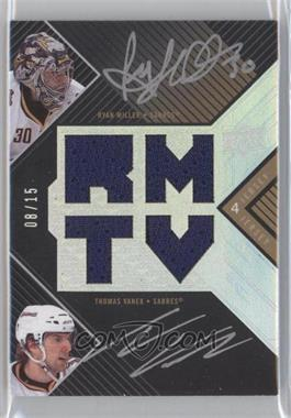 2008-09 Upper Deck UD Black Autographed Jerseys Dual #BAJ2-MV - Ryan Miller, Thomas Vanek /15