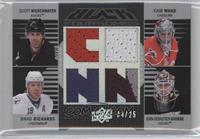 Scott Niedermayer, Cam Ward, Brad Richards, Jean-Sebastien Giguere /25