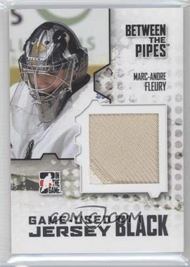 2009-10 In the Game Between the Pipes Game Used Material Jersey Black #M-12 - Marc-Andre Fleury /130