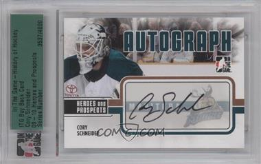 2009-10 In the Game Heroes and Prospects Autographs [Autographed] #A-CS - Cory Schneider [ENCASED]