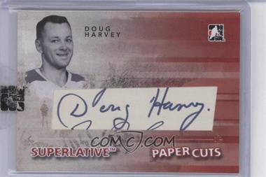 2009-10 In the Game Superlative Paper Cuts [Autographed] #PC-DH - Doug Harvey /1
