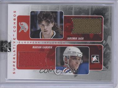 2009-10 In the Game Superlative Volume 2 2010 Spring Expo Combo Redemption Silver #SC-113 - Jaromir Jagr, Marian Gaborik /9