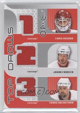 2009-10 O-Pee-Chee - Top Draws #TJ-HTOWN - Chris Osgood, Johan Franzen, Tomas Holmstrom