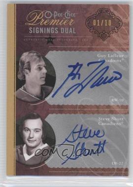 2009-10 O-Pee-Chee Premier Signings Dual Gold #PS2-LS - Steve Shutt, Guy Lafleur /10