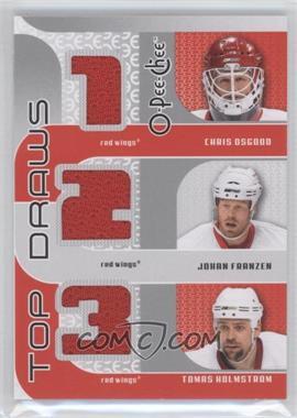 2009-10 O-Pee-Chee Top Draws #TJ-HTOWN - Chris Osgood, Johan Franzen, Tomas Holmstrom