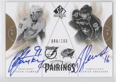 2009-10 SP Authentic Prestigious Pairings [Autographed] #PP-BS - Derick Brassard /100