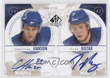 2009-10 SP Authentic Sign of the Times Dual [Autographed] #ST2-2 - Christian Hanson, Tyler Bozak