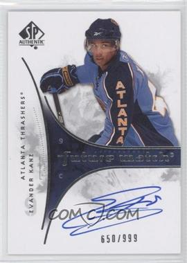 2009-10 SP Authentic #207 - Evander Kane /999
