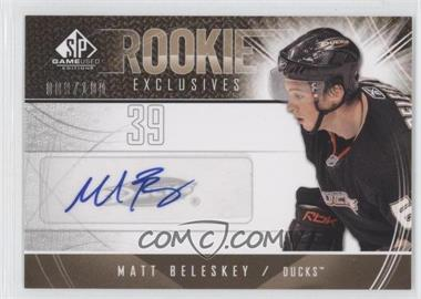 2009-10 SP Game Used Edition Rookie Exclusives Autographs #RE-MB - Matt Beleskey /100