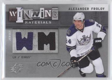 2009-10 SPx Winning Materials #WM-AF - Alex Frolov