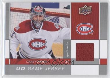 2009-10 Upper Deck - Game Jersey #GJ-CP - Carey Price