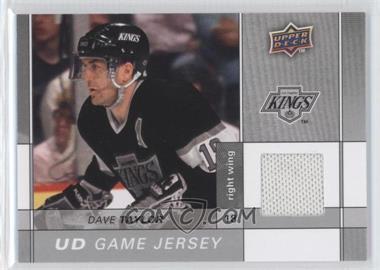2009-10 Upper Deck - Game Jersey #GJ2-DT - Dave Taylor