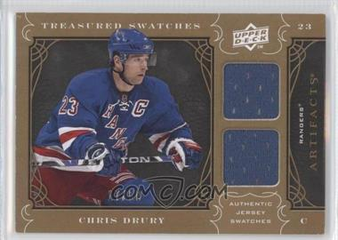 2009-10 Upper Deck Artifacts - Treasured Swatches - Copper #TS-CD - Chris Drury /50