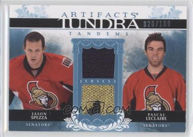 2009-10 Upper Deck Artifacts Tundra Tandems #TT-JP - Jason Spezza, Pascal Leclaire /100