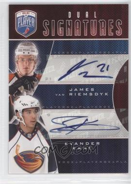 2009-10 Upper Deck Be a Player - Dual Signatures - [Autographed] #S2-KV - James van Riemsdyk, Evander Kane