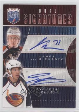 2009-10 Upper Deck Be a Player Dual Signatures [Autographed] #S2-KV - James van Riemsdyk, Evander Kane