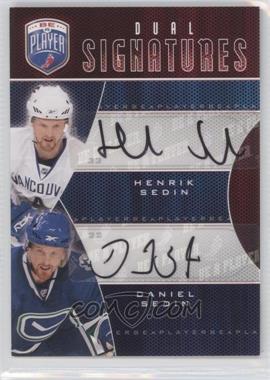 2009-10 Upper Deck Be a Player Dual Signatures [Autographed] #S2-SS - Henrik Sedin, Daniel Sedin