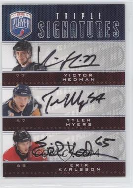 2009-10 Upper Deck Be a Player Triple Signatures #S3-MKH - Victor Hedman, Tyler Myers, Erik Karlsson