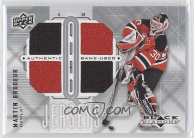 2009-10 Upper Deck Black Diamond Quad Jerseys #QJ-MB - Martin Brodeur