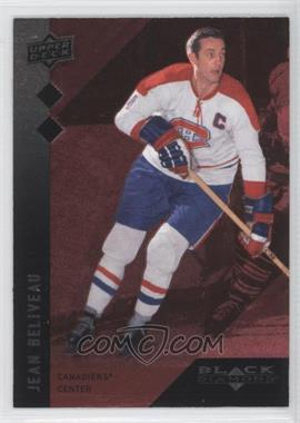 2009-10 Upper Deck Black Diamond Single Ruby Diamond #99 - Jean Beliveau /100