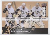 Sidney Crosby, Evgeni Malkin, Marc-Andre Fleury