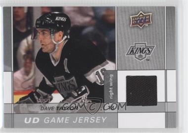 2009-10 Upper Deck Game Jersey #GJ2-DT - Dave Taylor