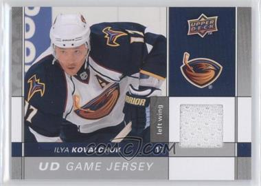 2009-10 Upper Deck Game Jersey #GJ2-IK - Ilya Kovalchuk
