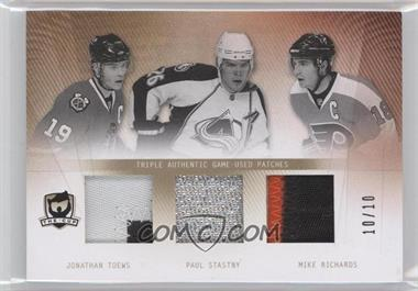 2009-10 Upper Deck The Cup - Cup Trios - Patches #CT-RST - Paul Stastny, Jonathan Toews, Mike Richards /10