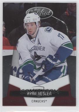 2010-11 Certified - [Base] - Platinum Red #143 - Ryan Kesler /999