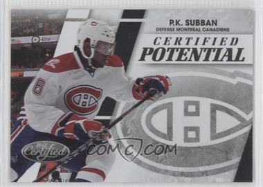 2010-11 Certified - Certified Potential Preview #PS - P.K. Subban