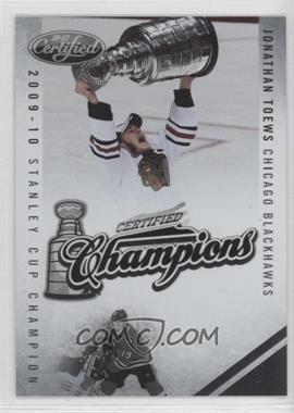 2010-11 Certified Certified Champions Preview #JT - Jonathan Toews