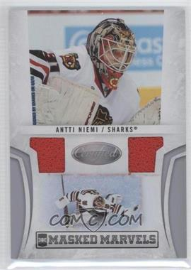 2010-11 Certified Masked Marvels Dual Material #1 - Antti Niemi /99