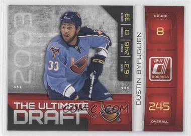 2010-11 Donruss - The Ultimate Draft #27 - Dustin Byfuglien