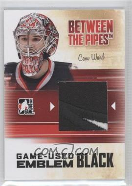 2010-11 In the Game Between the Pipes Game-Used Black Emblem #M-55 - Cam Ward
