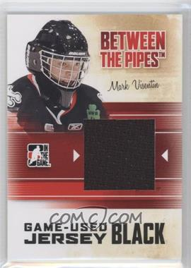 2010-11 In the Game Between the Pipes Game-Used Black Jersey #M-40 - Mark Visentin /120