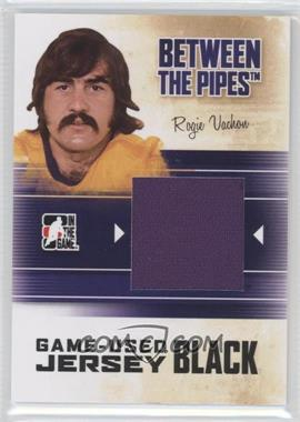 2010-11 In the Game Between the Pipes Game-Used Black Jersey #M-76 - Rogie Vachon