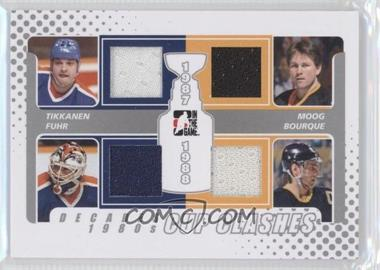 2010-11 In the Game Decades 1980s - Cup Clashes Game-Used - Silver #CC-09 - Esa Tikkanen, Grant Fuhr, Andy Moog, Ray Bourque /30