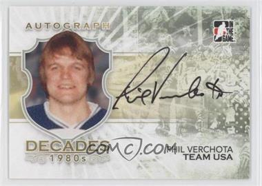 2010-11 In the Game Decades 1980s Autographs #A-PV - Phil Verchota