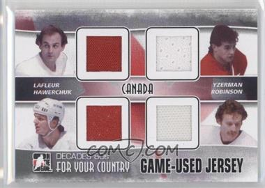 2010-11 In the Game Decades 1980s For Your Country Game-Used Jersey Black #FYCJ-02 - Guy Labrie, Steve Yzerman, Larry Robinson, Dale Hawerchuk