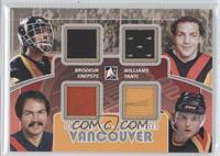 Richard Brodeur, Tiger Williams, Harold Snepsts, Tony Tanti