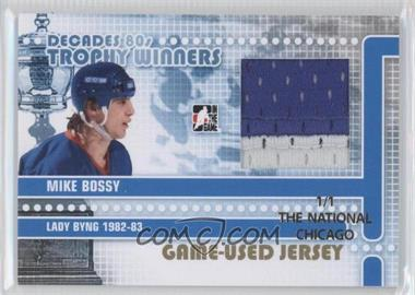 2010-11 In the Game Decades 1980s Trophy Winners Game-Used Jersey Gold The National Chicago #TWJ-08 - Mike Bossy /1