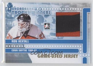 2010-11 In the Game Decades 1980s Trophy Winners Game-Used Jersey Gold #TWJ-24 - Ron Hextall