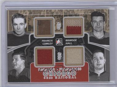 2010-11 In the Game Decades National Convention Franchises Game-Used Silver #CC-02 - Glenn Hall, Frank Brimsek, Emile Francis, Harry Lumley /4