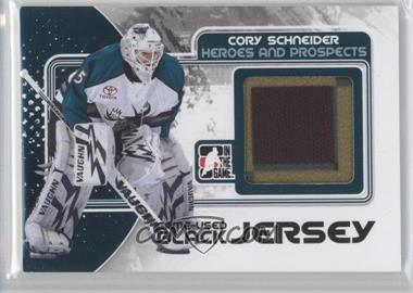 2010-11 In the Game Heroes and Prospects - Game-Used - Black Jersey #M-11 - Cory Schneider