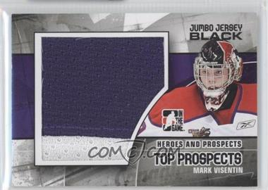 2010-11 In the Game Heroes and Prospects Top Prospects Jumbo Black Jersey #JM-12 - Mark Visentin