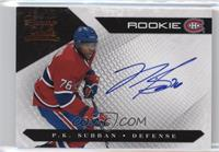 Rookies Group 3 - P.K. Subban /499