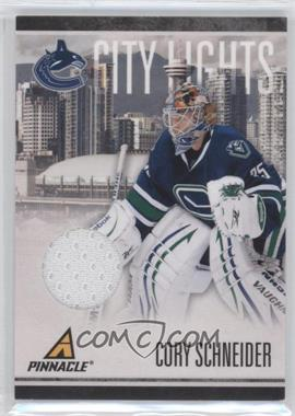 2010-11 Panini Pinnacle City Lights Materials #35 - Cory Schneider /499
